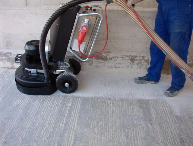 Циклевка бетонного пола
