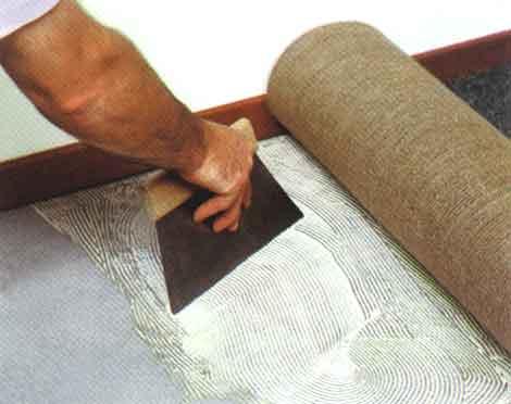 ковролин как правильно стелить на клей