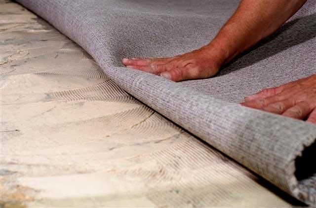 пол для укладки коврового покрытия