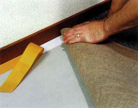укладка ковролина своими руками скотчем